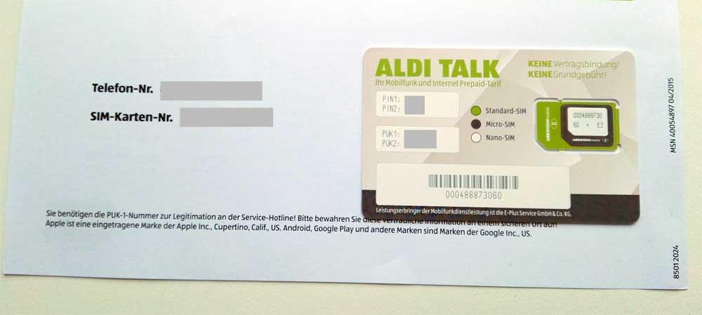 Aldi Talk Sim-Karte Aktivieren Geht Nicht